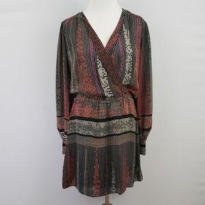 Parker Long Sleeved Silk Dress
